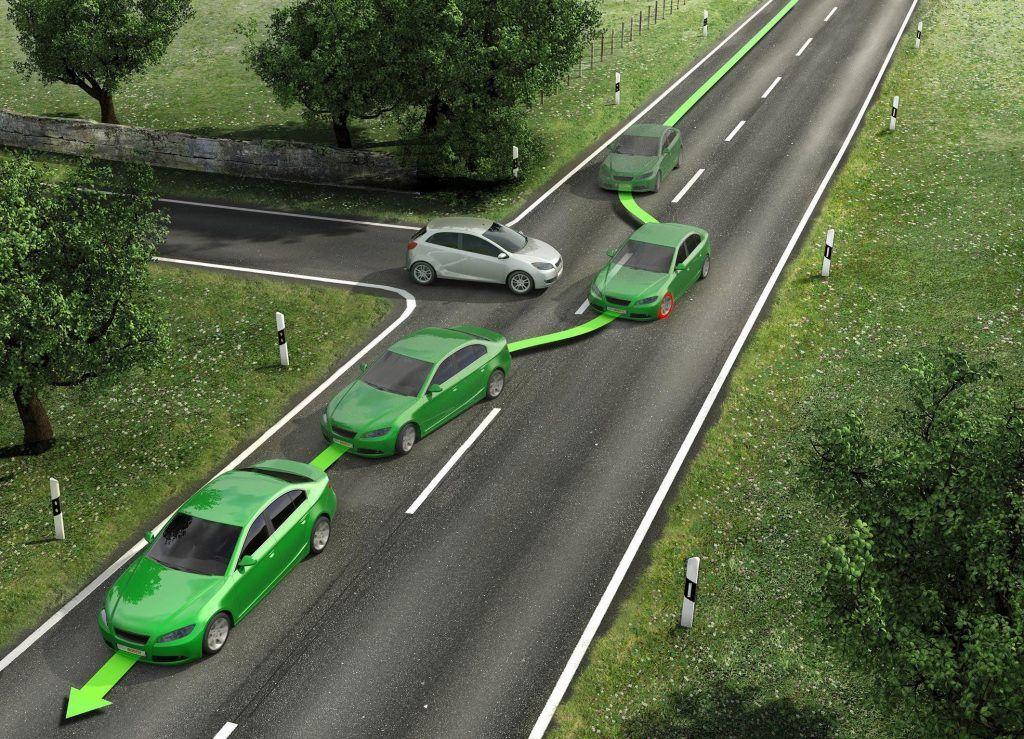 Cómo funciona el sistema ESP para evitar el derrape en un giro brusco en la conducción del coche.