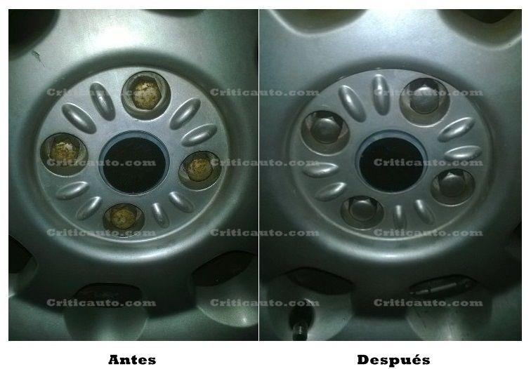 Cómo restaurar los tornillos de las llantas oxidados.008