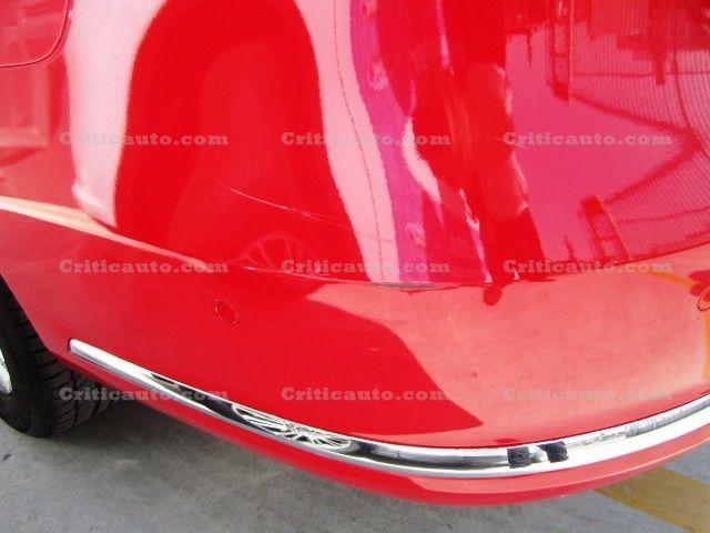 Ejemplo de daños de pintura en paragolpes.