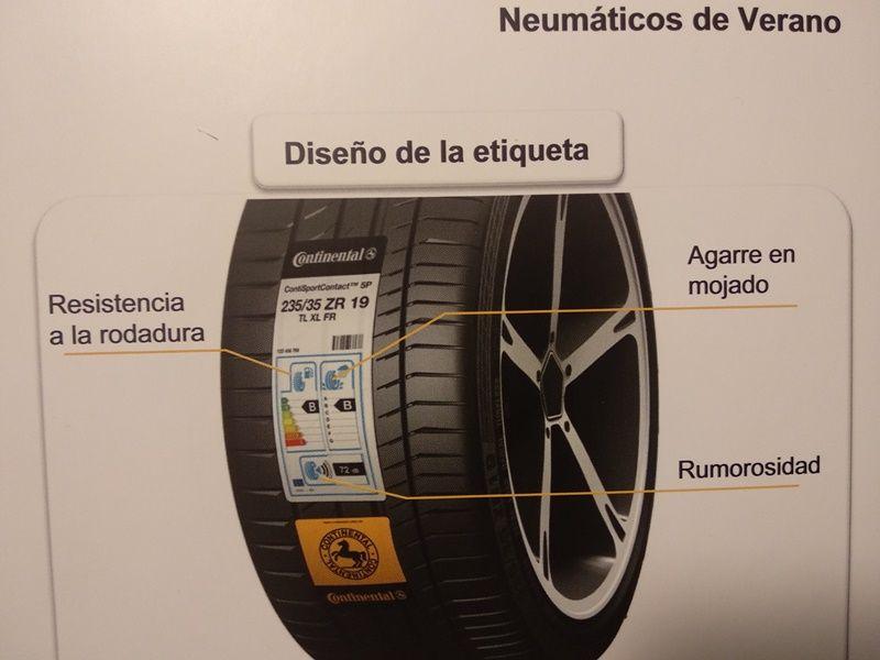 Factores que hay que tener en cuenta para la selección de neumáticos de verano: resistencia a la rodadura, agarre en mojado y rumorosidad.